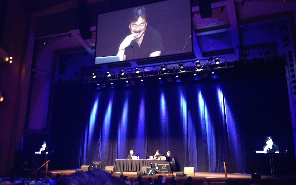 This picture of  Final Fantasy  creator Hironobu Sakaguchi is literally the only photo I took at all of PAX Prime that doesn't prominently feature a Double Fine game. I'm either a bad photographer or an unscrupulous journalist, apparently.