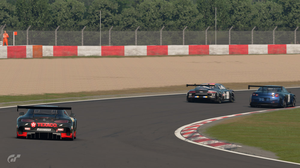 Ah, the joys of Sport mode: hoping people will throw themselves off the track in front of you