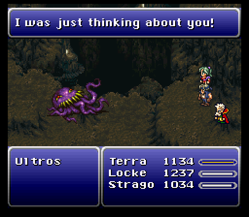 I'm never  not  thinking of you, Ultros!