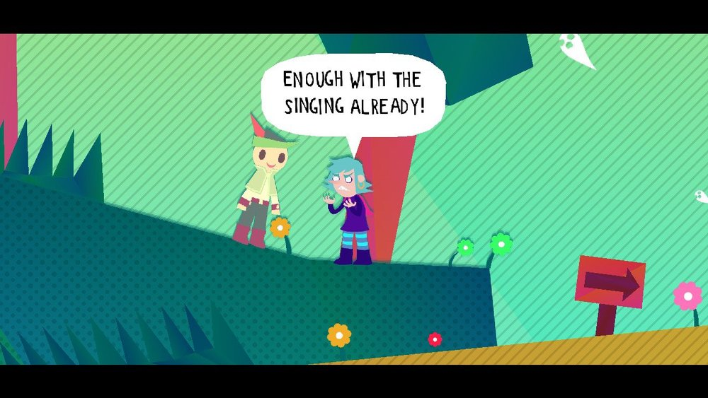 Things I never once thought while playing  Wandersong , exhibit A