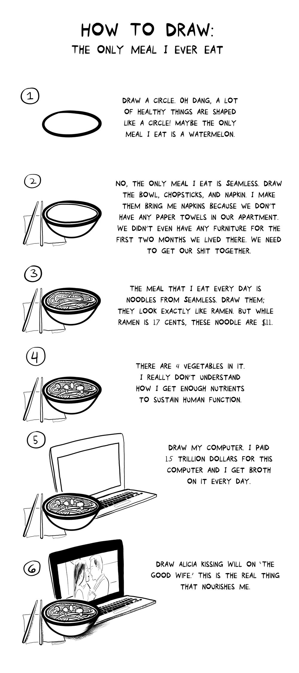 How To Draw: The Only Meal I Ever Eat