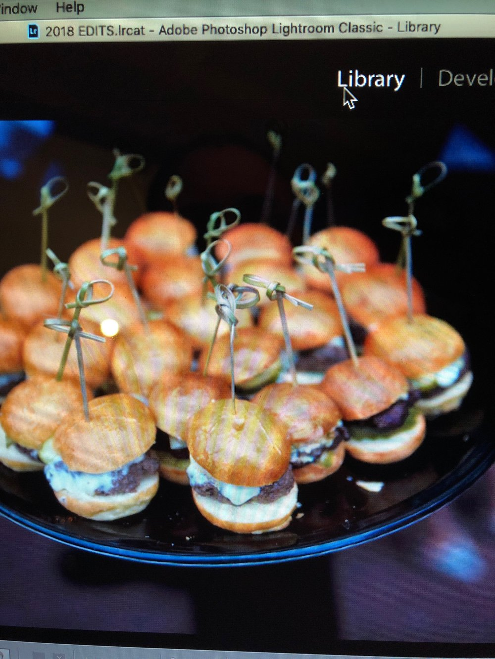 Side Note - - The Waterman Grille served mini-sliders. These burgers are the best burger bites on the face of the planet! One fell on the ground and was smashed. I cried real tears over that poor crushed mini burger!