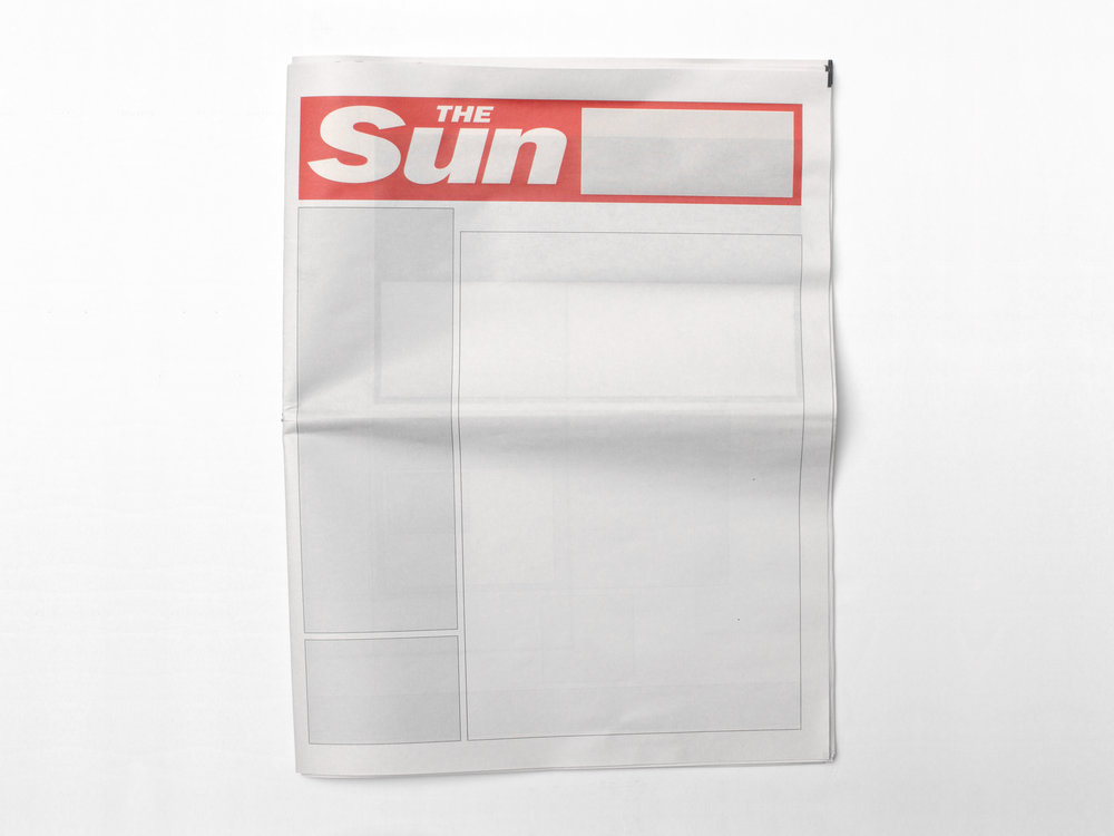 NOTHING IN THE SU  N:  Newspapers from around the world with nothing in them.
