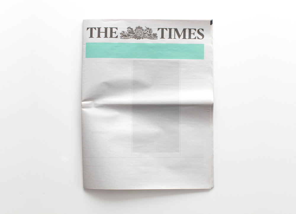NOTHING IN THE TIMES  :  Newspapers from around the world with nothing in them.