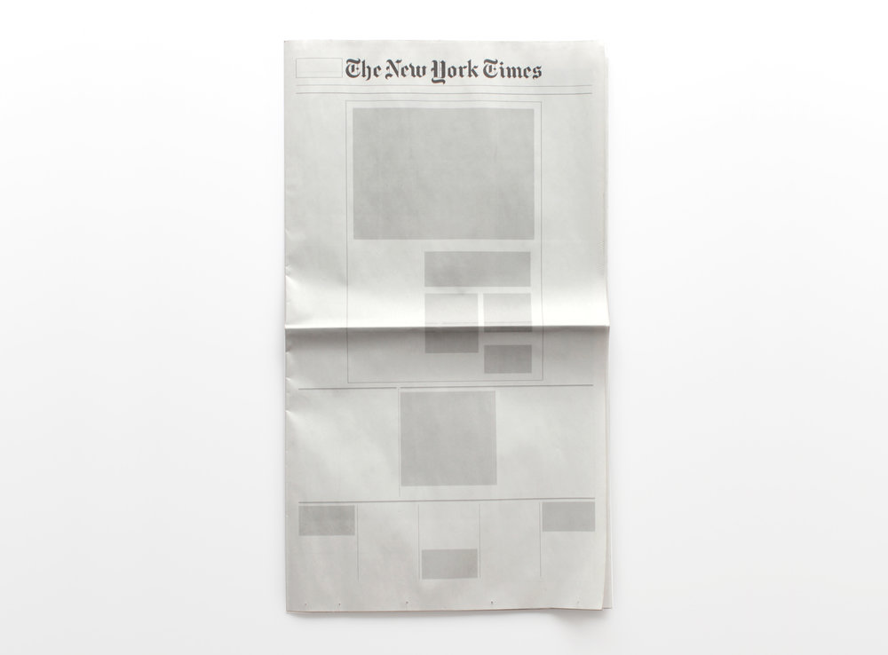 NOTHING IN THE NEW YORK TIMES  :  Newspapers from around the world with nothing in them.