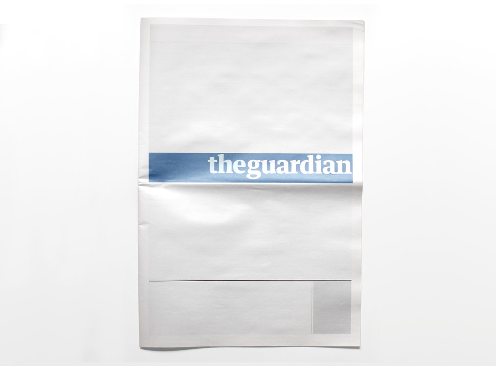 NOTHING IN THE GUARDIAN  :  Newspapers from around the world with nothing in them.