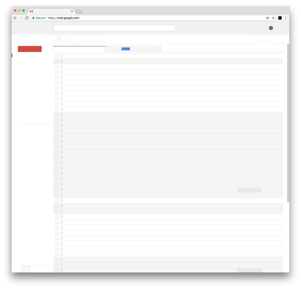 NOTHING ON THE INTERNET  - Screenshot from gmail.com