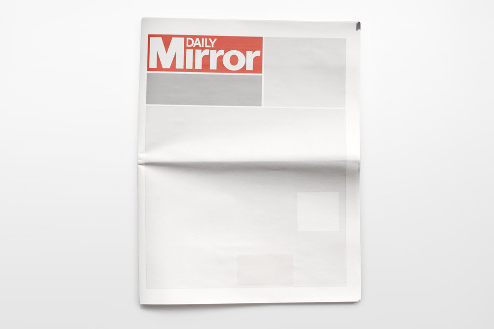 NOTHING IN THE DAILY MIRROR:  Newspapers from around the world with nothing in them.