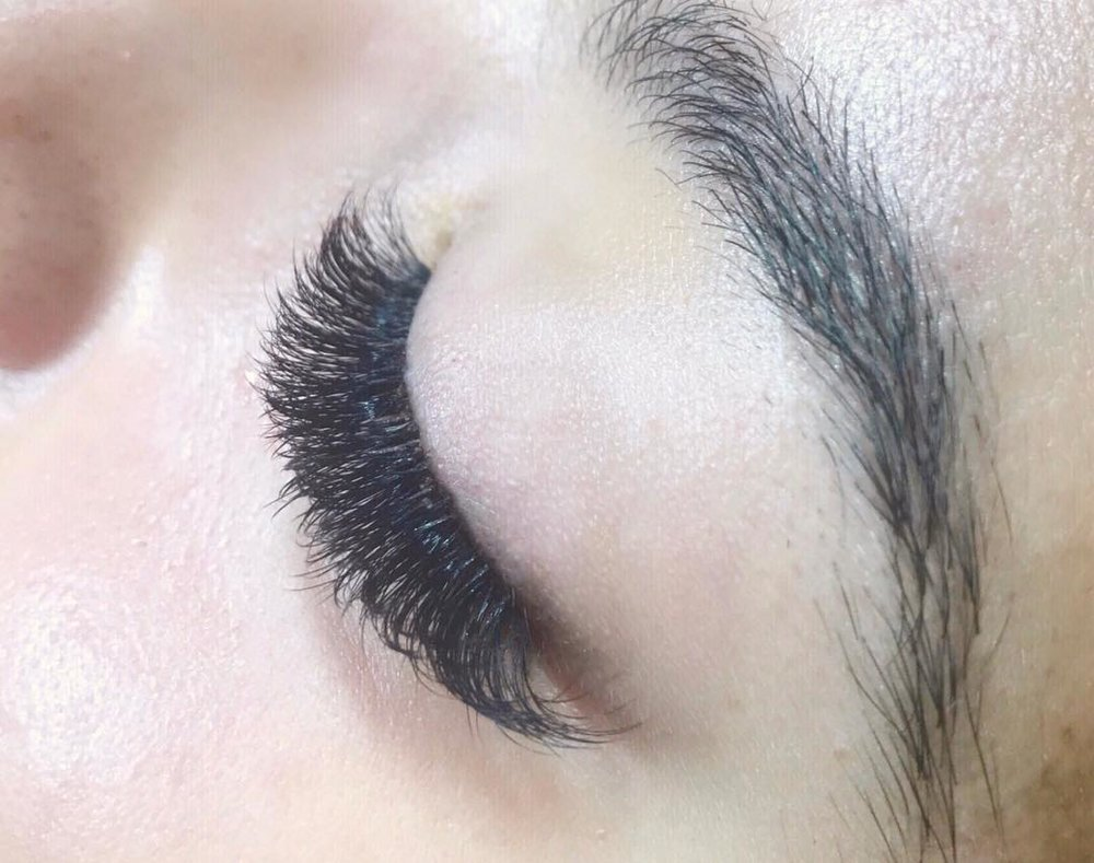 Actual lash extensions by our lash artist, Jaime.