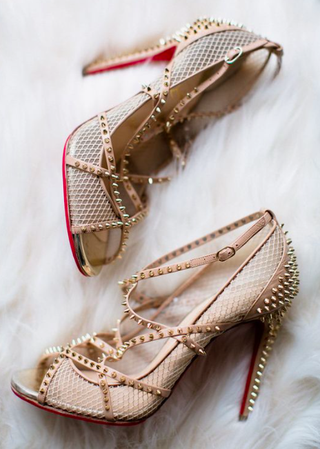 Christian Louboutin shoes are the perfect wedding day shoes to make a statement!