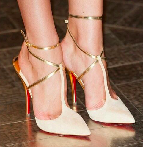 Gold shoes for your wedding day- super suede and fashion forward
