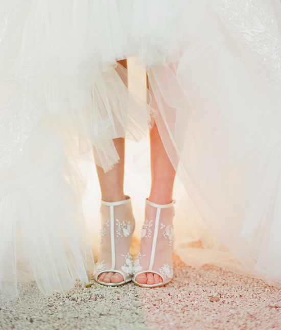 tall fashion forward wedding day shoes