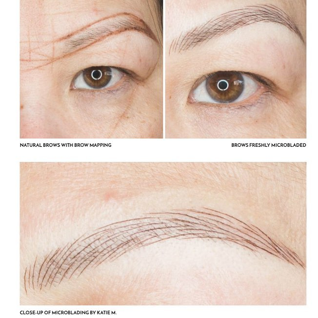 Microblading by our certified Microblading artist, Katie.