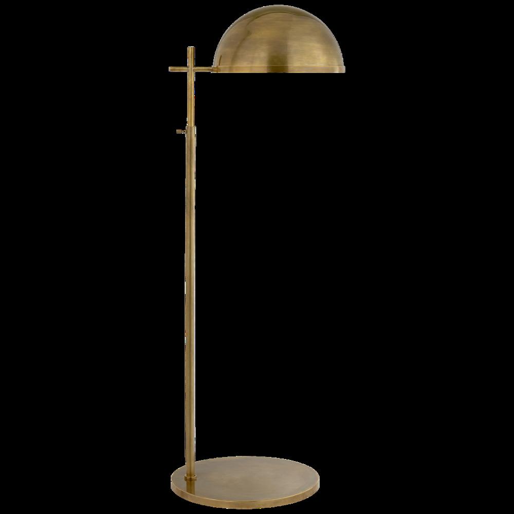 DULCET MEDIUM PHARMACY FLOOR LAMP IN ANTIQUE BURNISHED BRASS SHADE