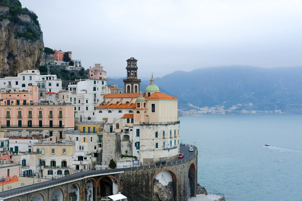 "<p style=""font-family:brandon-grotesque;font-weight:500; font-size:11px; text-center:left; color:light grey;letter-spacing: 1px"">MARCH 30, 2018 • AMALFI • 📍Atrani, Italy 🇮🇹</p>"
