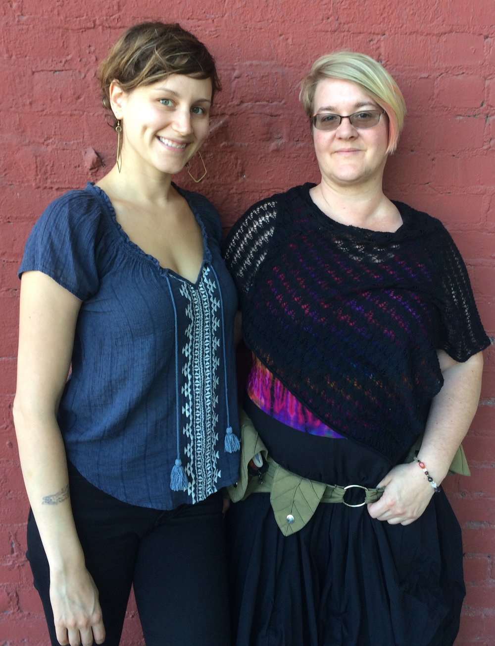 Halley Miglietta (left) and Michaela at Halley's studio in The Urban Hive, Sacramento.