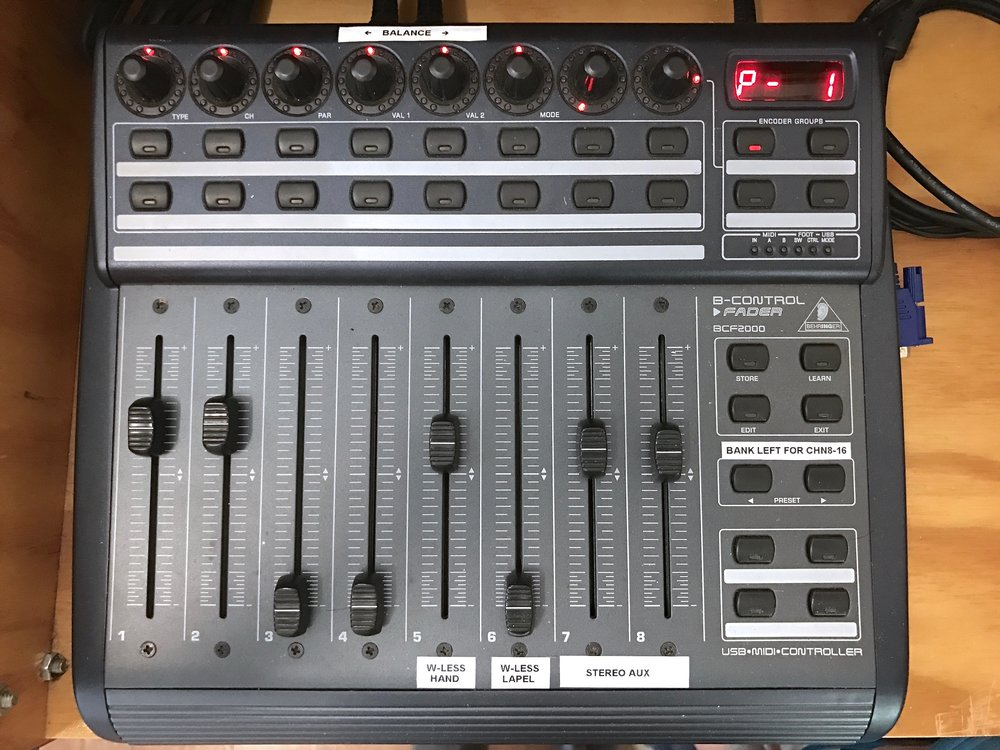 midi controller for digital mixer