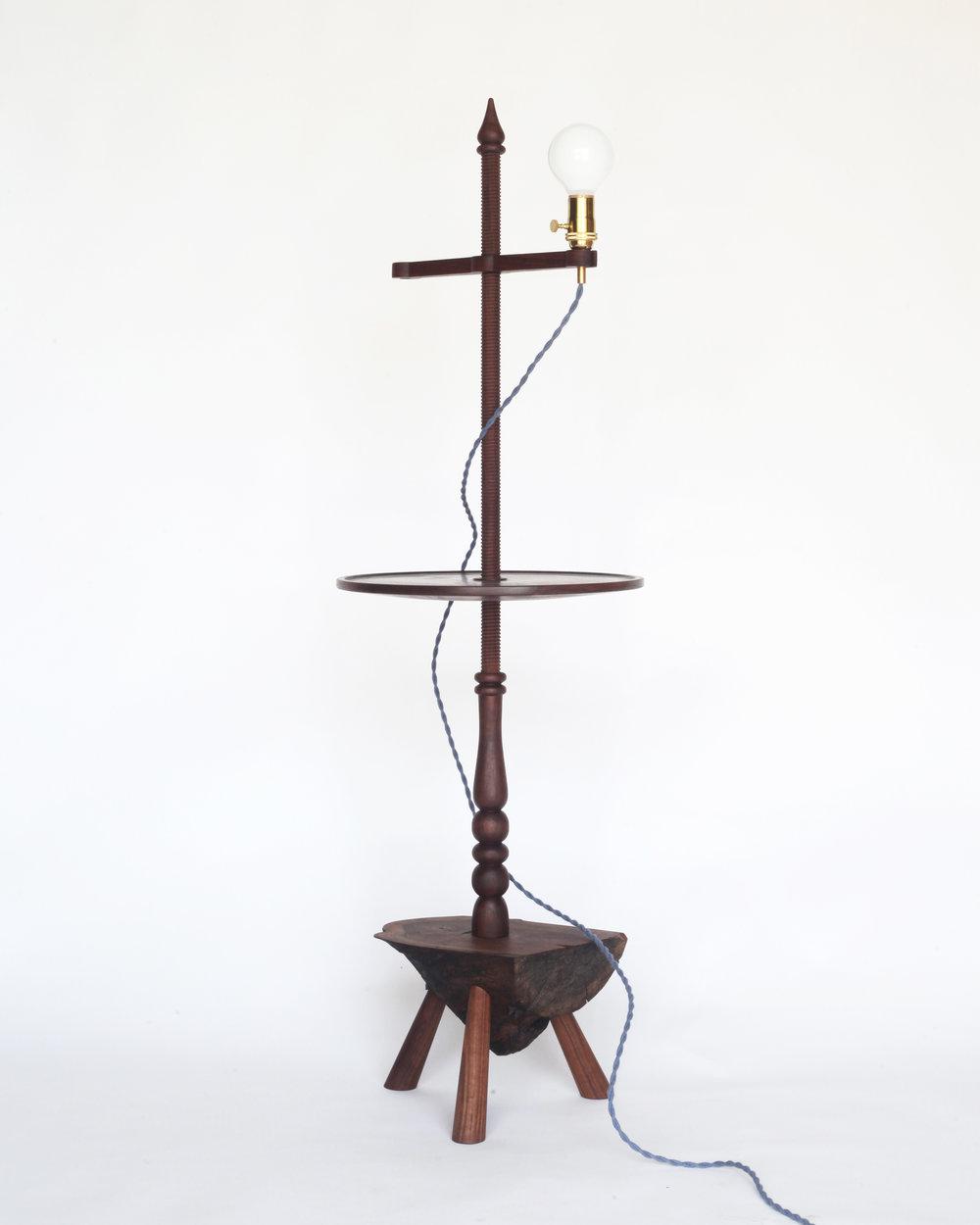 Shaker-style floor lamp-  Claro walnut