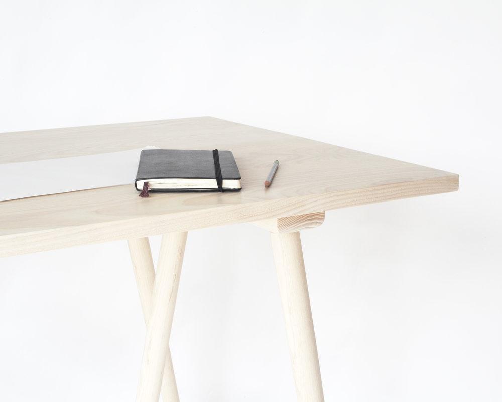 desk-  Bleached ash