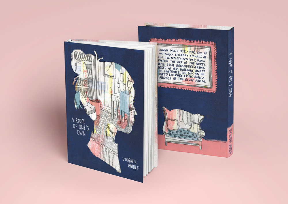 Book jacket design based on Virginia Woolf's  A Room of One's Own .