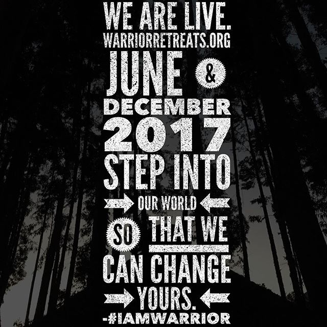 We are officially live and registration is open. To get what few have you have to do what few will do. It's time to #WarriorUp. #iamwarrior #warriorretreats #dopehumans #warriorsunite