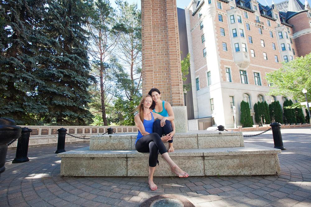 Leia & Ashleigh, owners of Moksha Saskatoon.