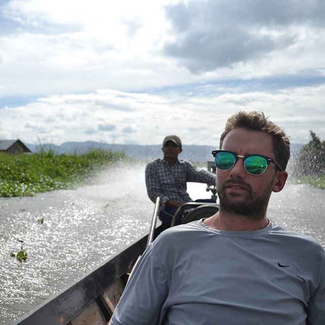 We've taken many forms of transport on this trip... but the traditional Burmese fishing boats are unique #balance #whysoserious #fishing #burma