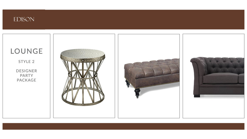 Edison Lounge Package: Style 2