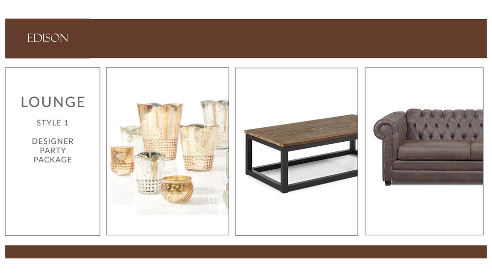Edison Lounge Package: Style 1