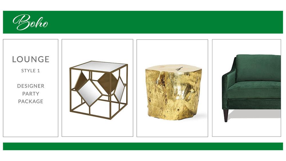 Boho Lounge Package: Style 1