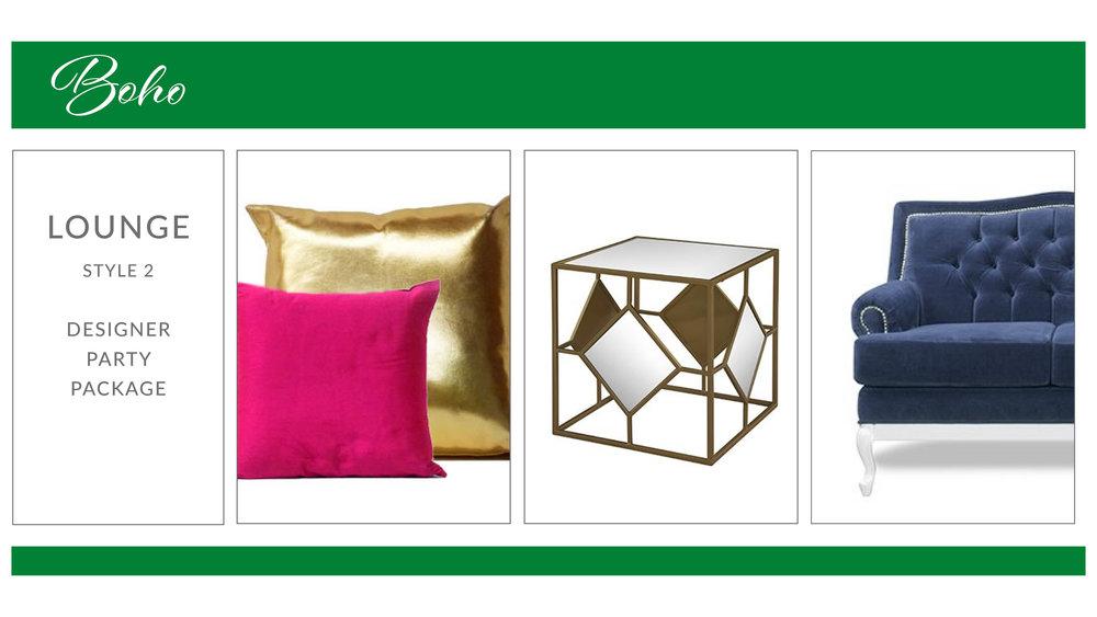 Boho Lounge Package: Style 2