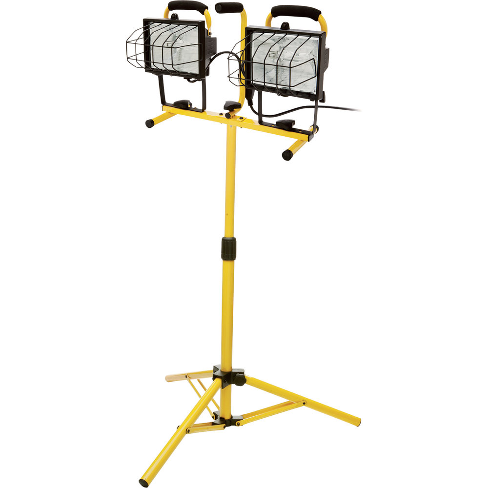 "Work Light w. Stand ""Double"""