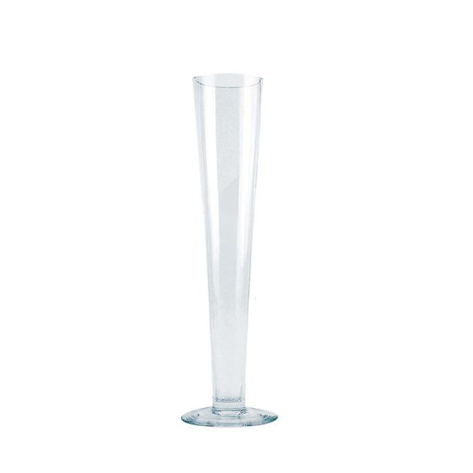 Clear glass pilsner vase