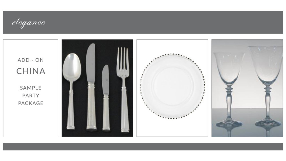 ADD-ON: Elegance China Package