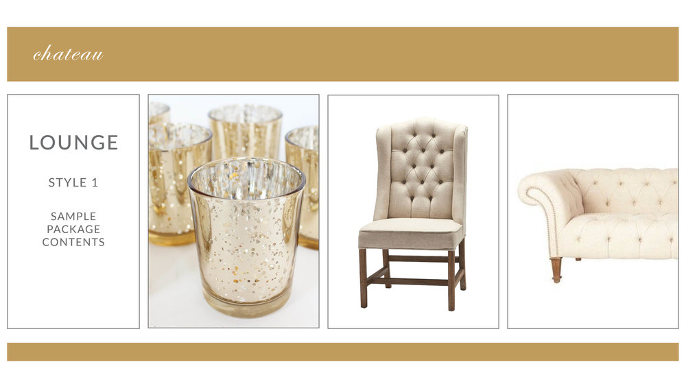 Chateau Lounge Package: Style 1