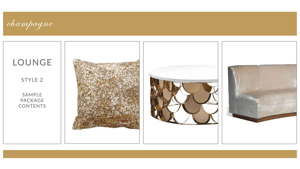 Chateau Lounge Package: Style 2