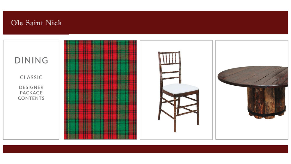 Ole Saint Nick Dining Package Style 2: Classic