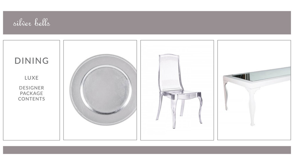 Silver Bells Dining Package Style 2: Luxe