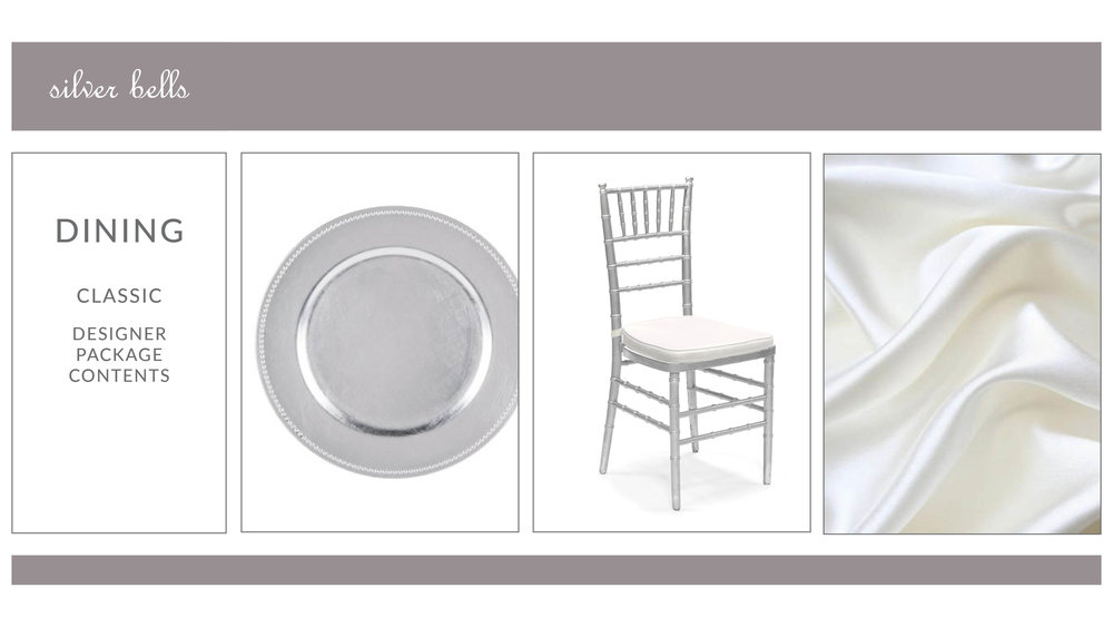 Silver Bells Dining Package Style 1: Classic