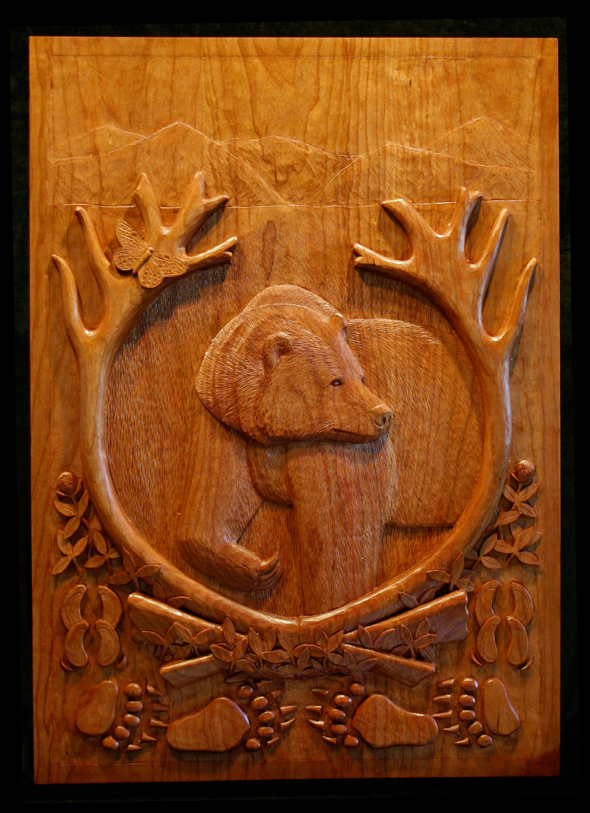 Hand carved entryways panels by maine woodcarver john bryan u2014 john