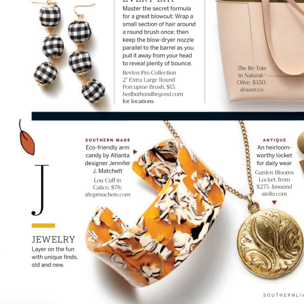 Southern Living Magazine 2018 / Lou Cuff in Calico