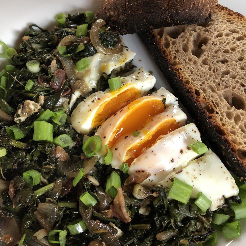Greens + Egg Saute