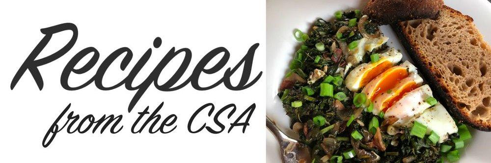 Recipes from the CSA - Greens + Egg Saute.jpg
