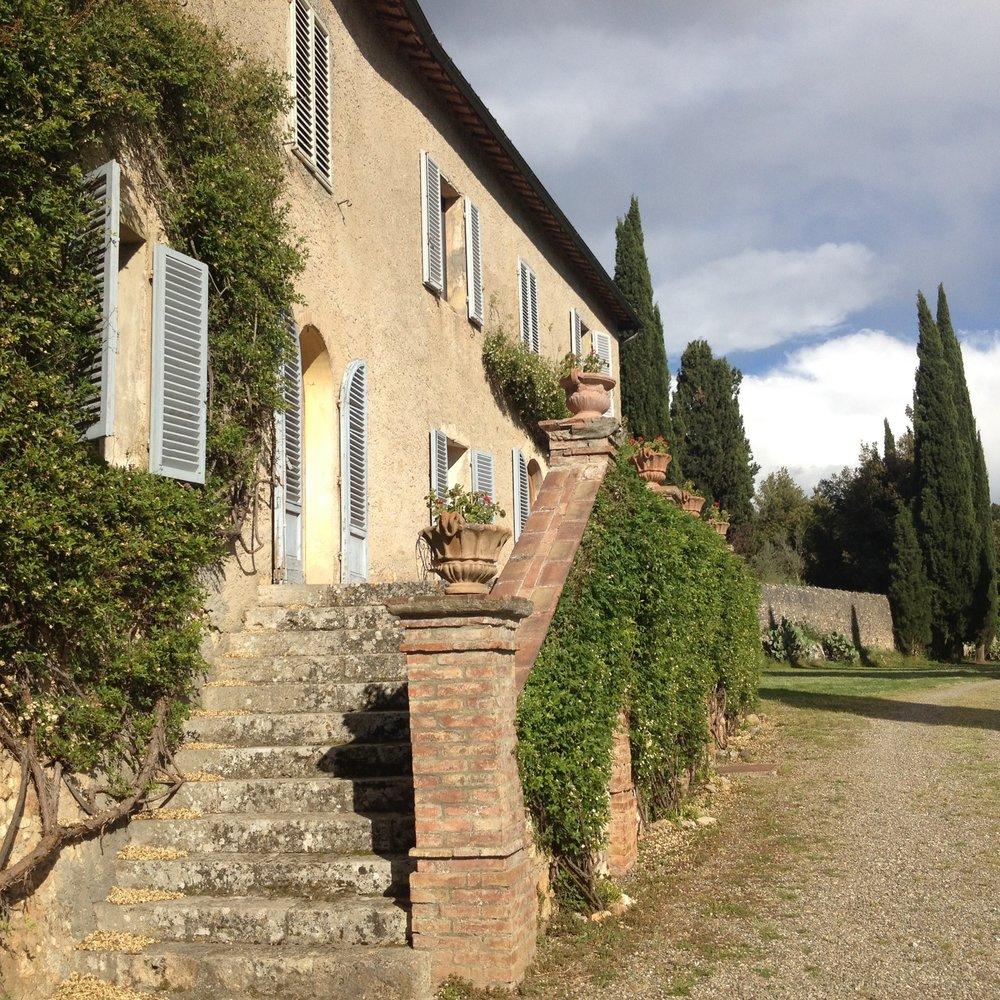 Back patio at Spannocchia