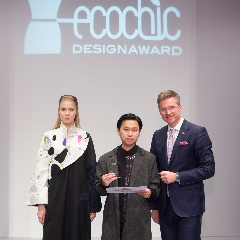 "Second Prize: ""The EcoChic Design Award 2014/15 with The Langham, Hong Kong"" Winner Victor Shing Hong Chu, Hong Kong"