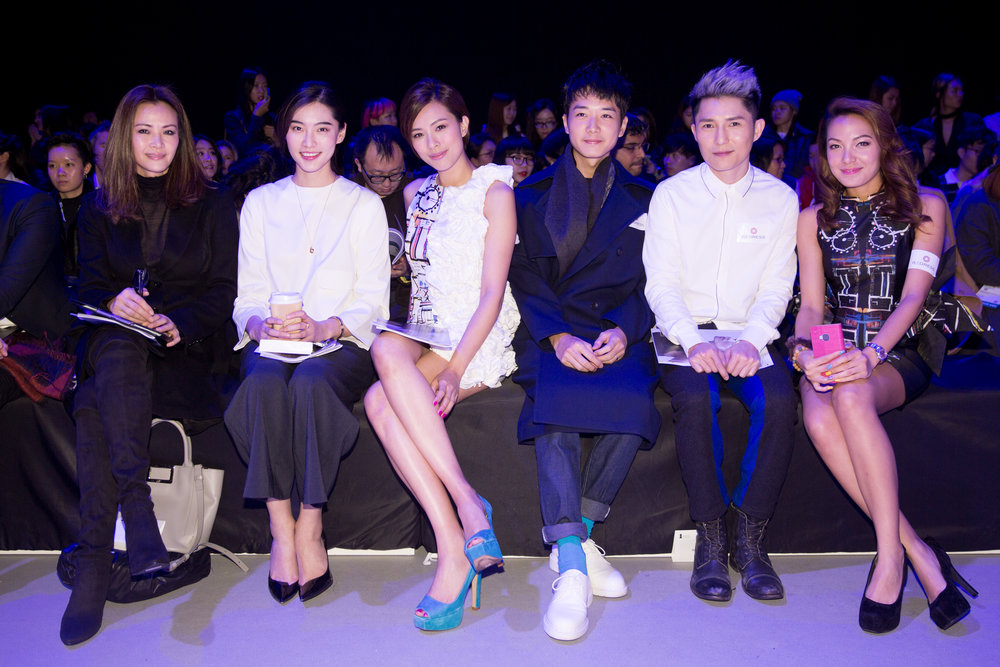 Celebrities Janet Ma, Bonnie Chen, Queenie Chu, Babyjohn Choi, Ryan Lau, Sarki Choy attend the Redress Design Award 2015/16 Grand Final Show