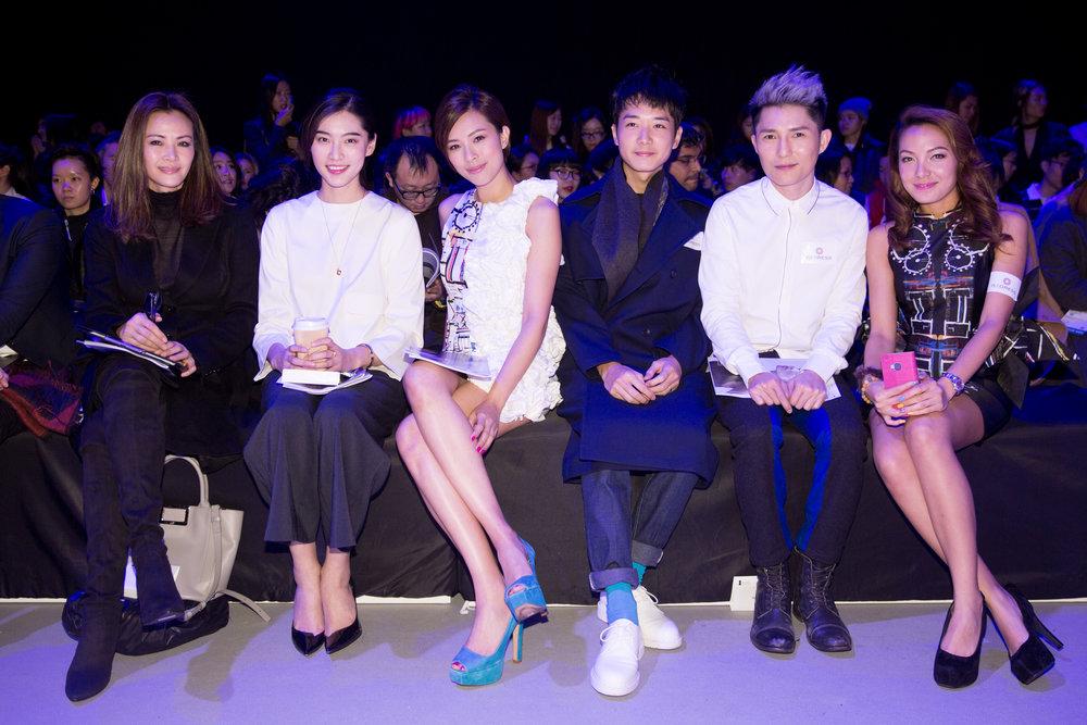 Celebrities Janet Ma, Bonnie Chen, Queenie Chu, Babyjohn Choi, Ryan Lau, Sarki Choy attend the Redress Design Award 2015/16 Grand Final Show