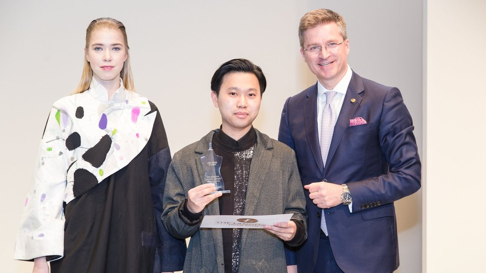 Victor Chu won the Second Prize: The EcoChic Design Award 2014/15 with The Langham, Hong Kong