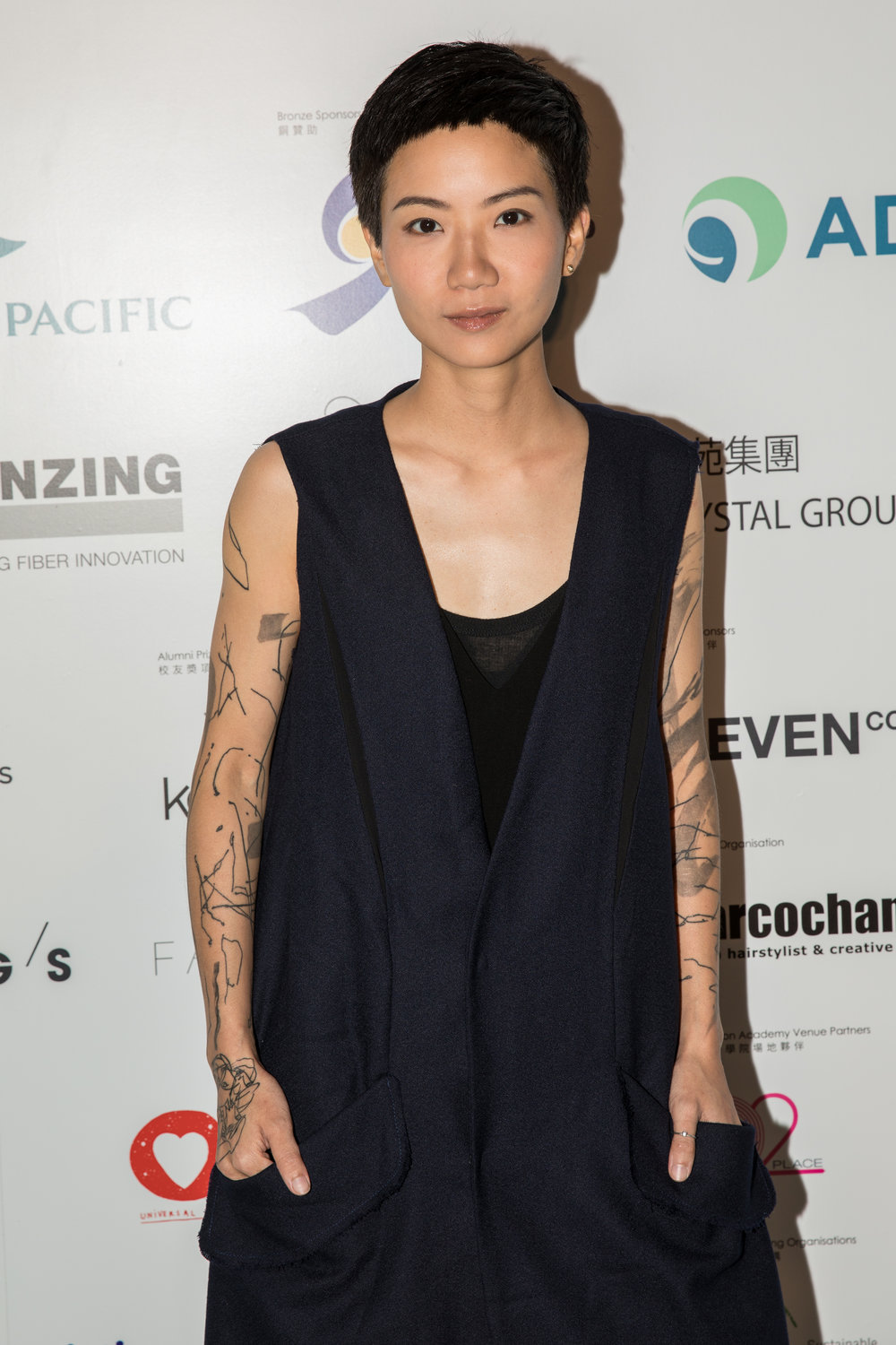 EcoChic Design Award 2017 special prize judge Ellen Loo wears Alex Leau to attend the EcoChic Design Award 2017 Grand Final Show
