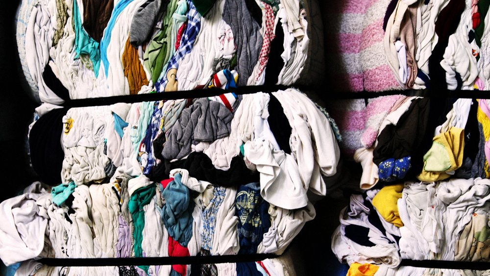 Secondhand clothes are a source of fibres for 'new' clothes